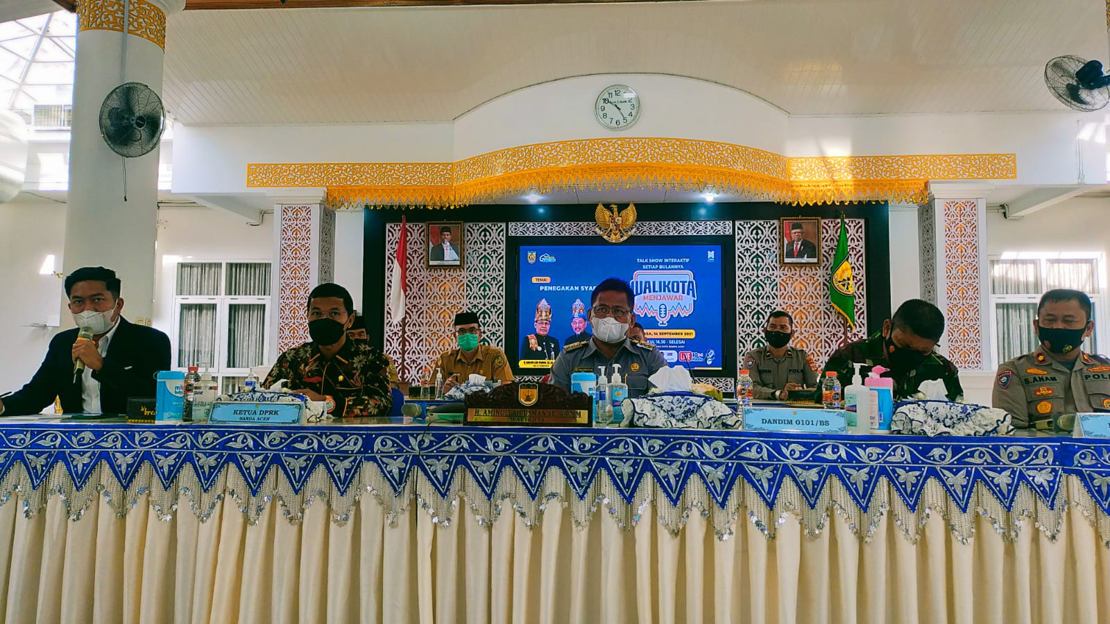 Kasatbinmas Polresta Banda Aceh Menjadi Narasumber Program Walikota Menjawab