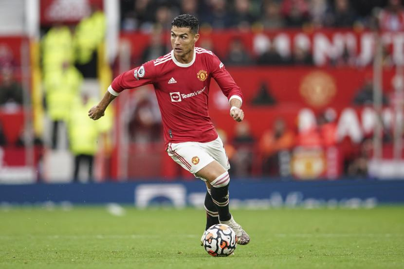 Pemain Manchester United Cristiano Ronaldo.